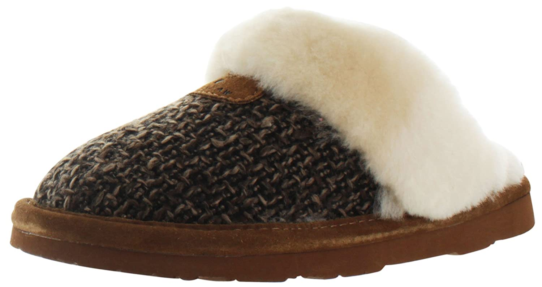 Bearpaw Women's Paulette Sheepskin Slip On Slippers