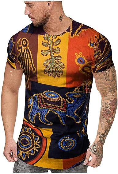 Overdose Moda para Hombre Camisas de Verano de Manga Corta ...