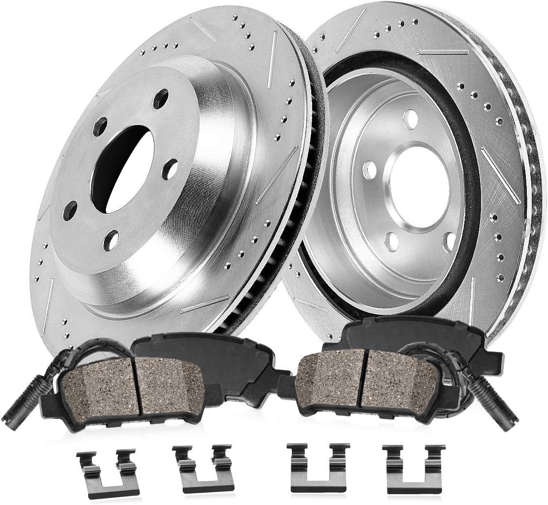 For 2010-2013 Land Rover Range Rover Sport Front Rear Black D//S Brake Rotors Kit