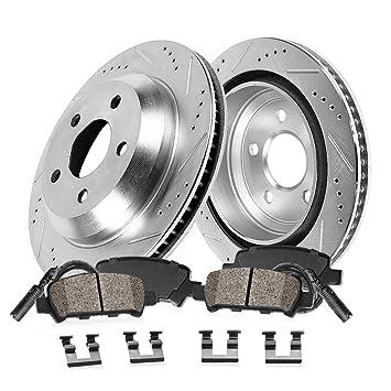 Front And Rear Brake Disc Rotors /& Ceramic Pads For BMW 750i 750Li 760i 760Li