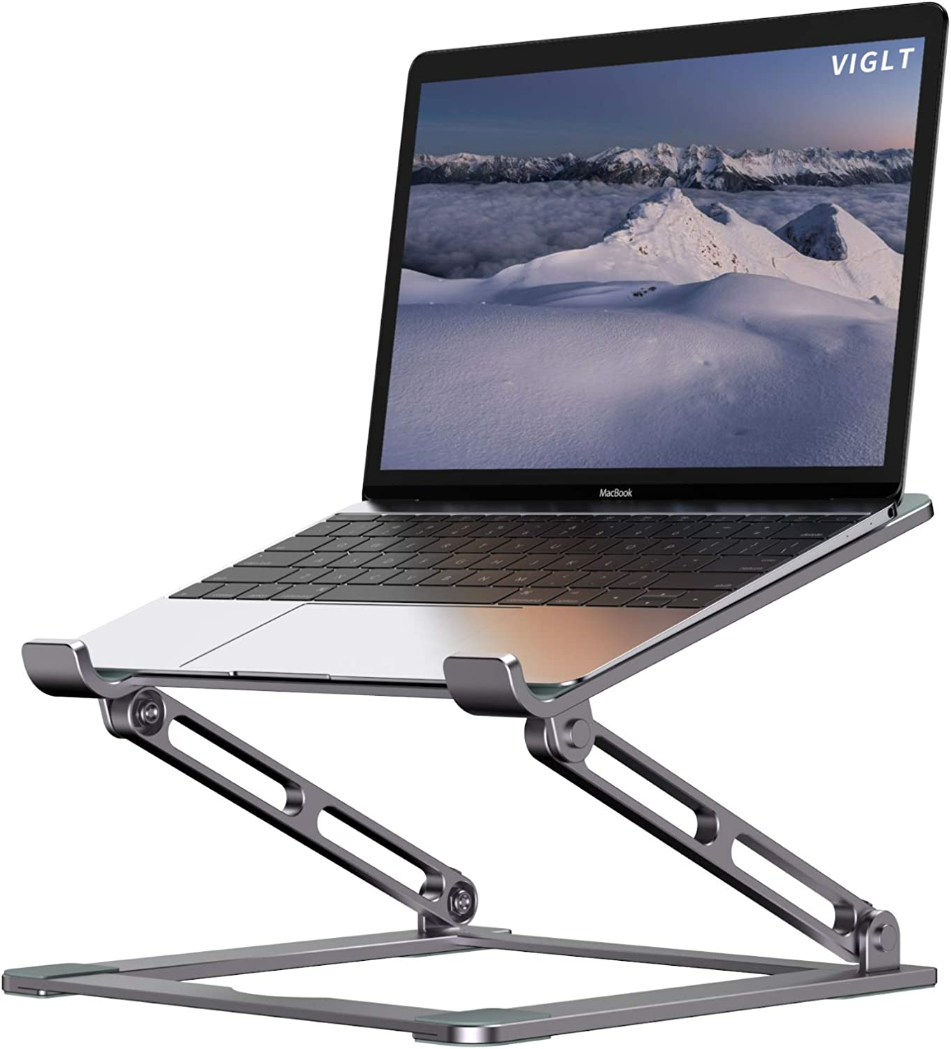 Laptop Stand for Desk, Adjustable Laptop Stand Holder Portable Laptop Riser with Multi-Angle Height Adjustable Computer Stand for MacBook Air/Pro and More Notebooks 10-17.3