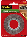 2 Pack Of Scotch Exterior Mounting Tape, 1-Inch by 60-Inch by 3M