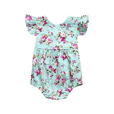 367df1c28 store b7fe7 00eb2 ruffles floral bow knot romper baby clothes ...