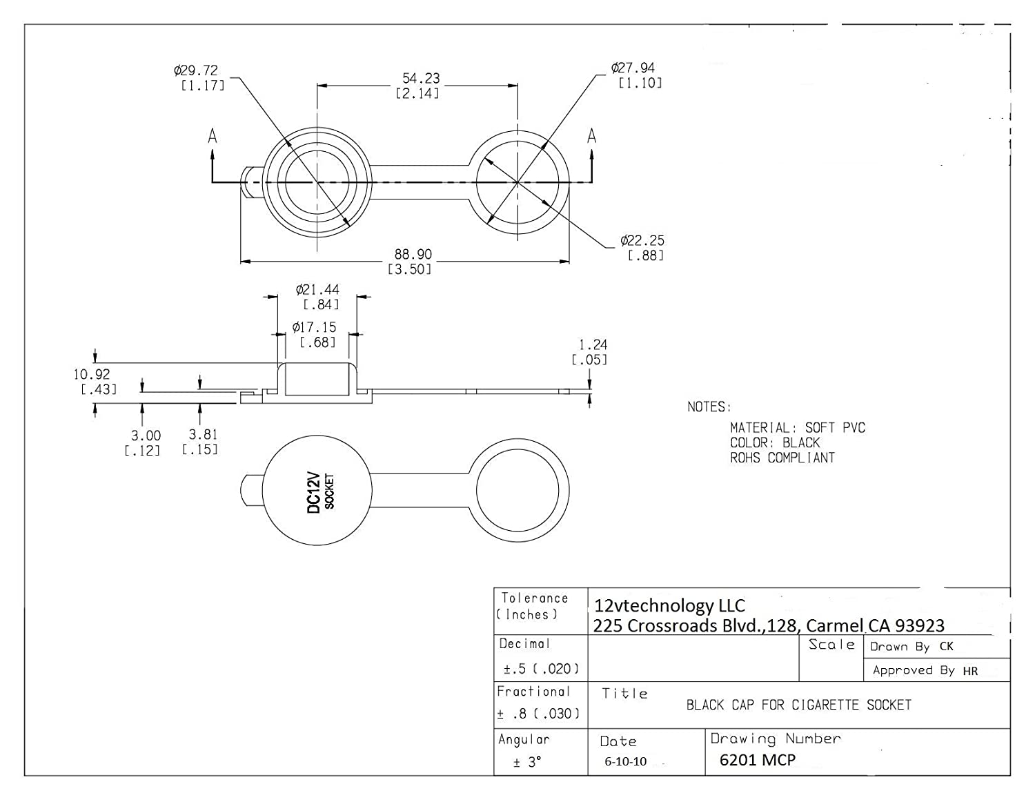 Three 3x Cigarette Lighter Socket Cover Cap 12v Outlet 1968 Dodge 500 Truck Wiring Diagrams Lid 3mcp Automotive