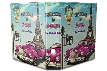 Archivador A4 Carpeta 2 anillas 60mm impreso Bienvenido a París: Amazon.es: Hogar