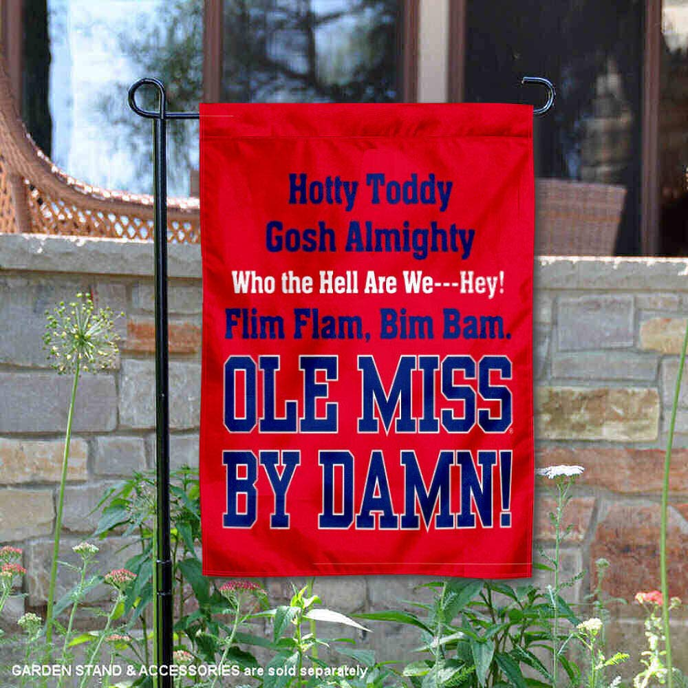 College Flags and Banners Co. Mississippi Rebels Hotty Toddy Garden Flag