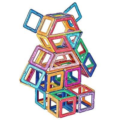 HZYYZH Conjunto De Bloques De Construcción Inteligente De Piezas Magnéticas De 73 Juegos De Niños, Niñas Y Niños, Y Un Juego Arquitectónico De Noria, Regalos Creativos Y Educativos: Deportes y aire libre