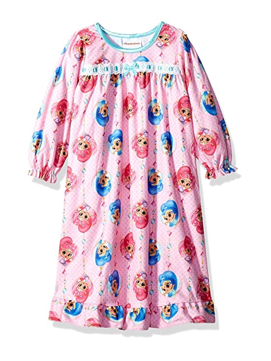 Amazon.com: Nickelodeon Shimmer and Shine Girls Flannel Granny Gown ...