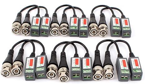 sourcing map Cable Adaptador coaxial para Cámara CCTV, BNC Balun Pasivo, Cat5 UTP (12 Unidades): Amazon.es: Electrónica