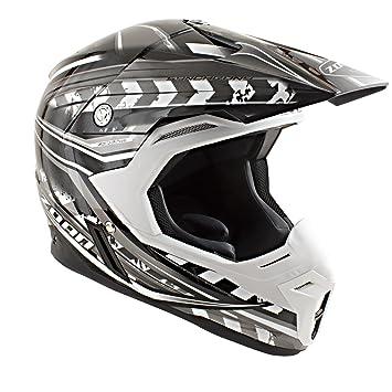 Zoan sincronía Monster Negro Plata Offroad MX motocicleta casco de equitación XL
