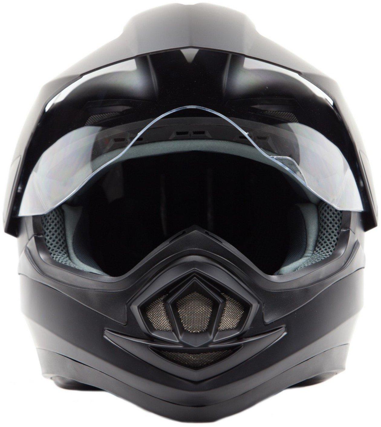Dual Sport Snocross Snowmobile Helmet w/ Electric Heated Shield - Matte Black - XL by Typhoon Helmets (Image #5)