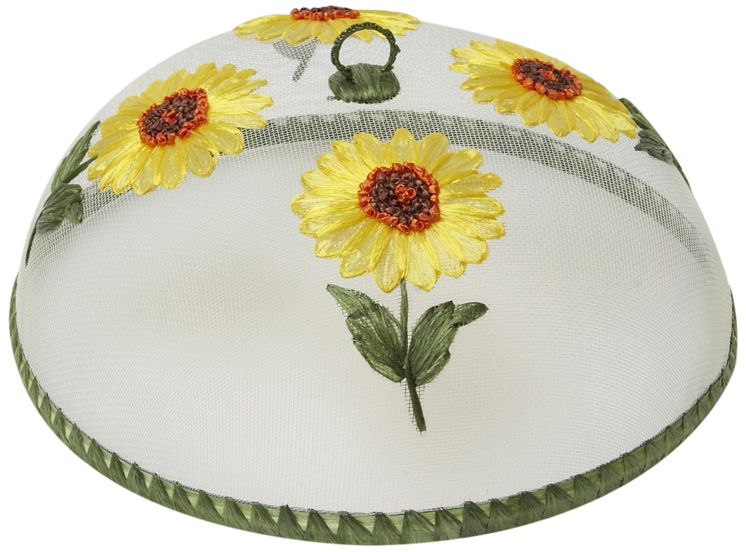 Woodard & Charles Round Sunflowers Food Domes, 14-Inch