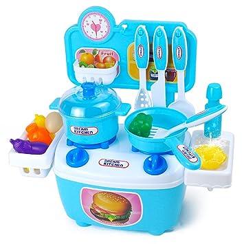 Kinderküche, Teckpeak 20 Teilig Küchen Spielzeug Set Kochen Spiel ...