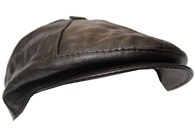 New 100% Real Leather Gatsby Cap Mens Captain Brown Newsboy Ivy Hat ... 520d0bc2073