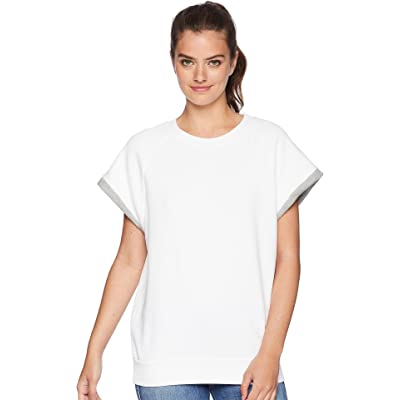 7 For All Mankind Womens Two-Tone Muscle Sweatshirt: Clothing