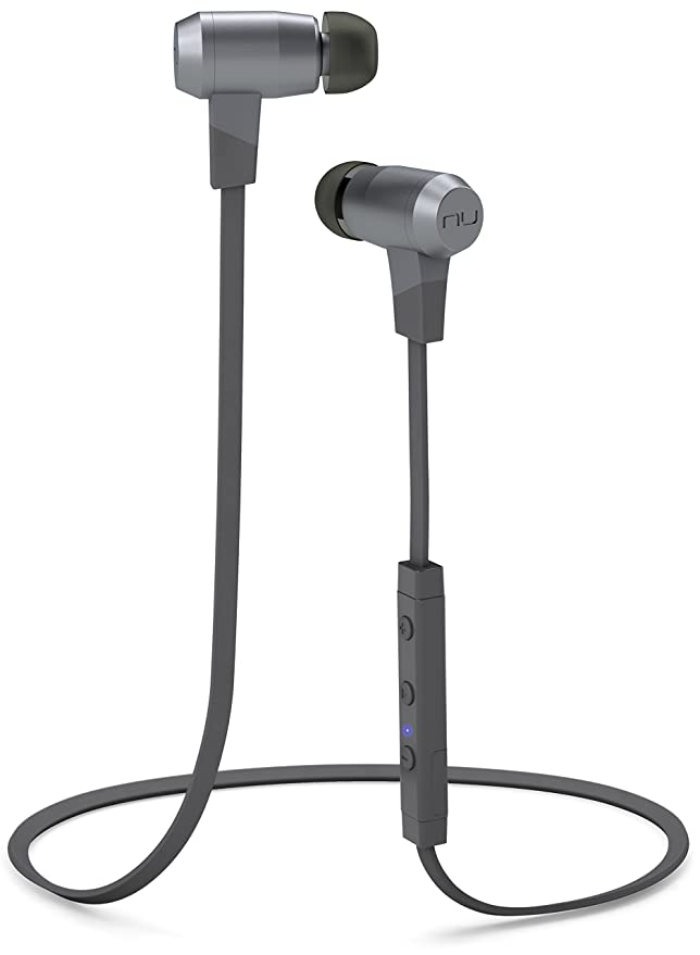 NuForce BE6i Wireless Bluetooth Headphones with aptX, AAC and Long Battery Life, Grey In-Ear Headphones at amazon