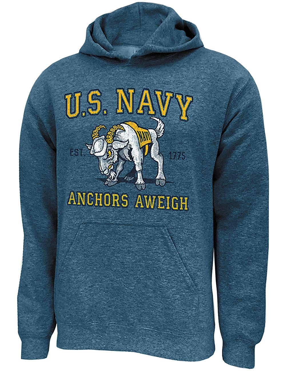 Anchors Aweigh US Navy Military Retro Logo Hoodie Est 1775