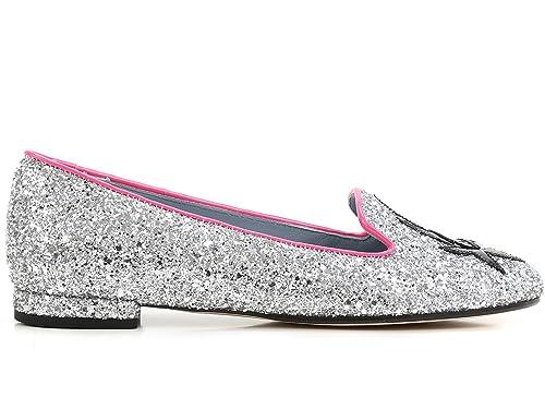Chiara Ferragni - Mocasines para Mujer Plateado Plateado Plateado Size: 36: Amazon.es: Zapatos y complementos