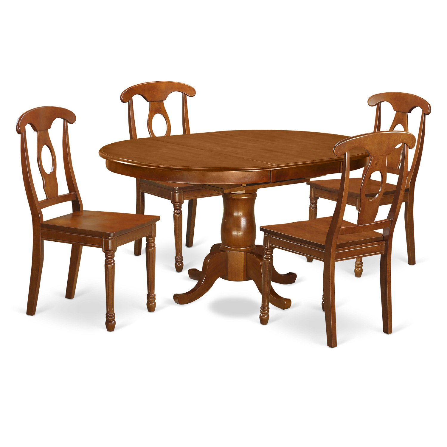 Amazon.com: East West Furniture pona5-sbr-c Juego de mesa de ...