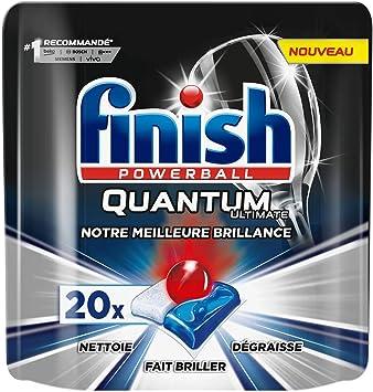 Finish Ultimate Quantum - Limpiador para lavavajillas (20 ...