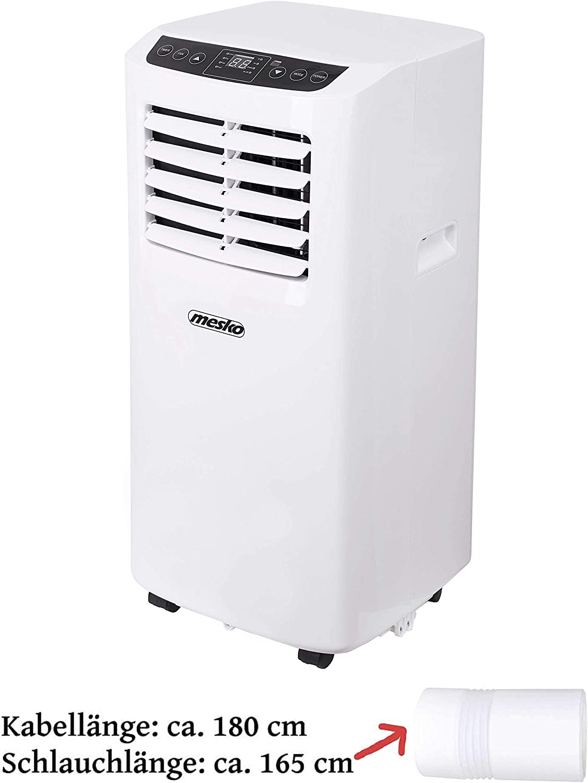 2 Geschwindigkeitsstufen Nachtmodus Air Cooler Aircooler 5000 BTU Klima Anlage Fensterkit Ventilator 24h Timer Fernbedienung 3in1 Mobile Klimaanlage Klimager/ät
