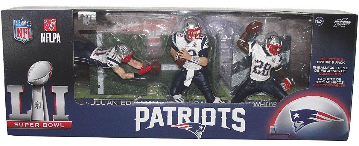 fb26bb648 Amazon.com  NFL New England Patriots Championship Action Figure 3-Pack   Toys   Games