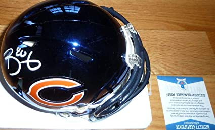 f6fded5a Signed Trey Burton Mini Helmet - Beckett bas Chrome 0211 - Beckett  Authentication - Autographed NFL