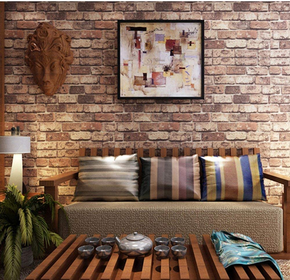 Amazon Co Jp 壁紙シール ウォールステッカー レンガ柄 はがせるタイプ 45cm 10m リフォーム ウォールステッカー 防水 Us レンガ Diy 工具 ガーデン