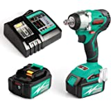 """Enegitech 18V Impact Wrench Combo Kits ½"""", Brushless Motor 3097 in.lbs 4 Speed Cordless Power Tool with 2 x 3.0Ah Battery and 1 x 30 mins Fast Charger"""