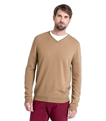dbba9fa8709b Wool Overs Pull homme col V en cachemire mérinos  Amazon.fr ...