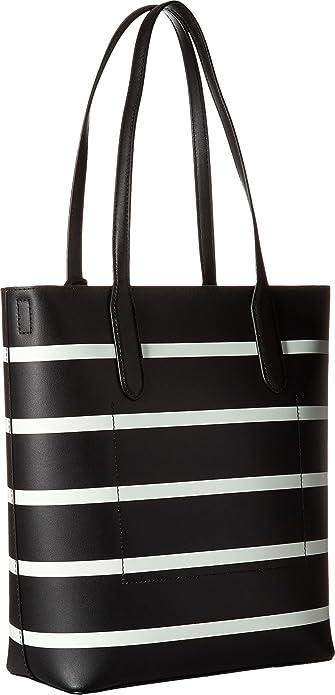 6bd4e786b Amazon.com: LAUREN Ralph Lauren Women's Dryden Alexis Tote Black/Vanilla  Stripe One Size: Shoes