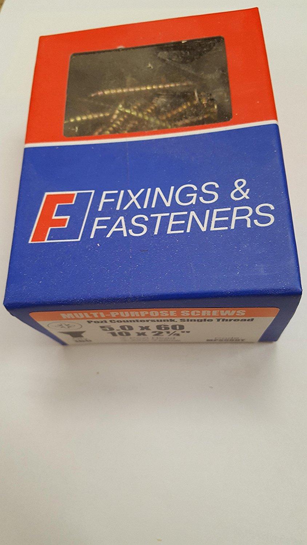 Bargainscrews Lot de 100 vis /à cartons multi usages 5.0 x 70mm
