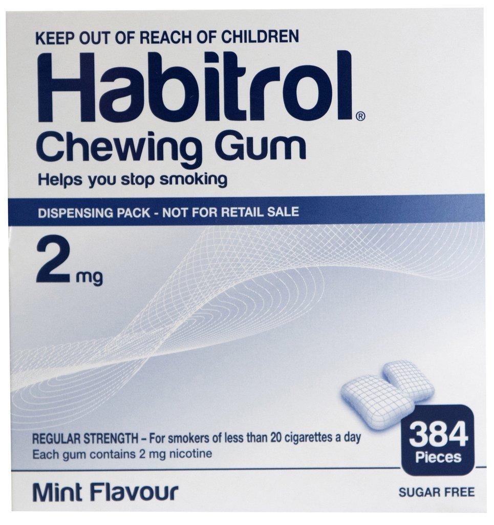 Habitrol Nicotine Gum 2mg Mint BULK 384 pieces by Habitrol