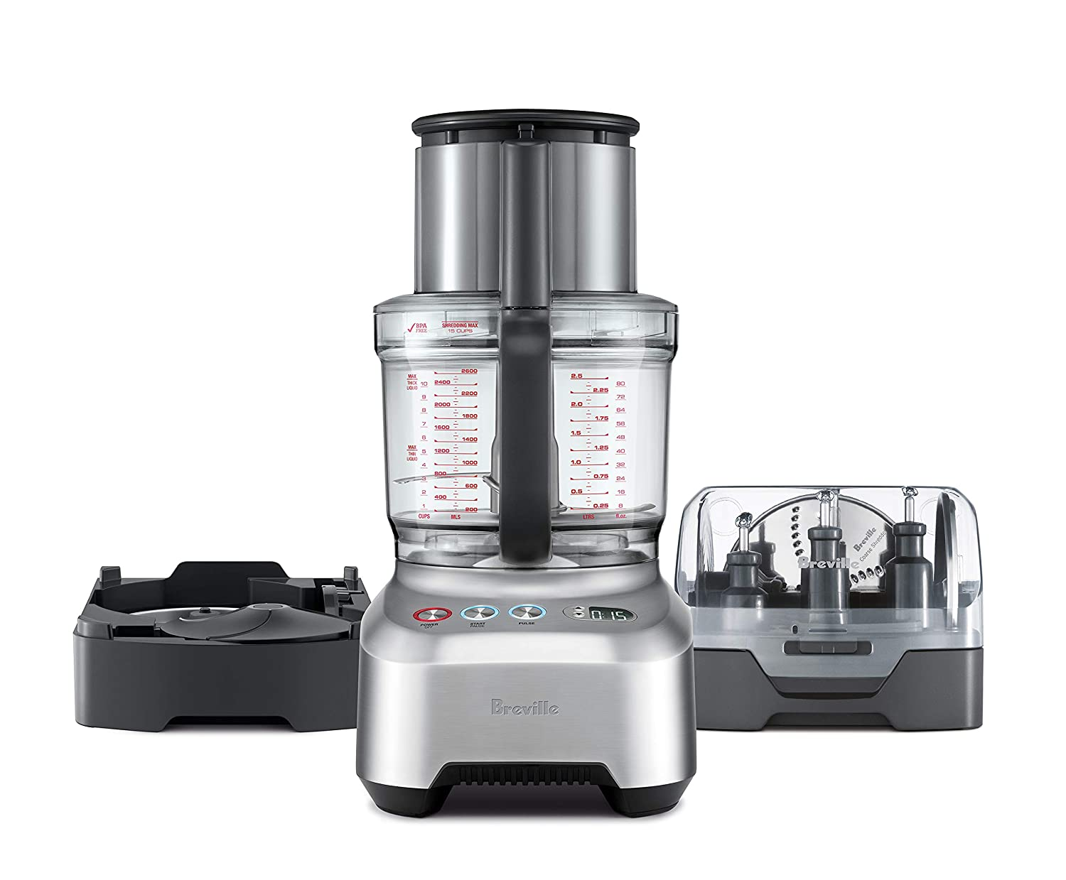 Breville BFP820BAL1BUS1 Sous Chef 16 Peel Dice Countertop Food Processor, Silver