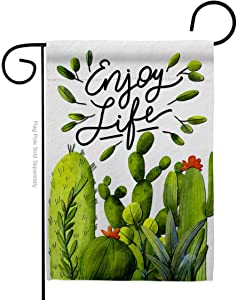 Breeze Decor Cactus Life Garden Flag Regional Southwest Desert Country Succulent Particular Area House Decoration Banner Small Yard Gift Double-Sided, Made in USA