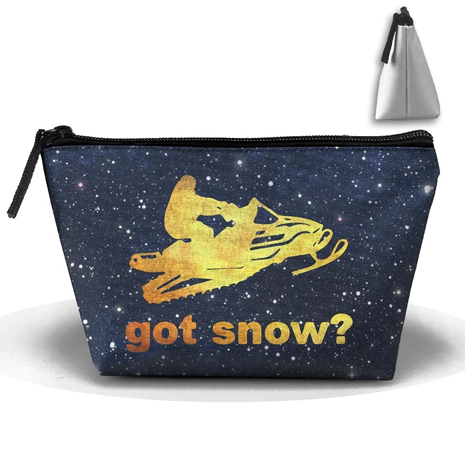 Got Snow Snowmobile Portable Trapezoid Cosmetic Makeup Bag Travel Case Multi-Functional Zipper Closure Pouch Storage Bag For Toiletry And Skincare