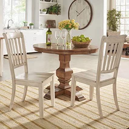 Amazon.com: Recliner Chair Side Table Dining Chair Rustic Dining ...