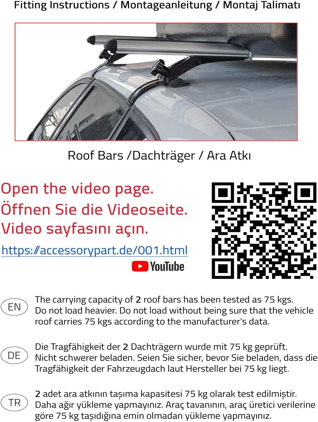 accessorypart Dachtr/äger f/ür Opel Astra K 2015-2020 Gepacktr/äger Relingtr/äger Aluminium Grau mit Regenrinne