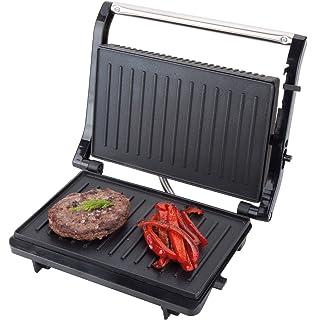 Jata Plancha de Asar Doble Grill, 750 W, Metal, Negro