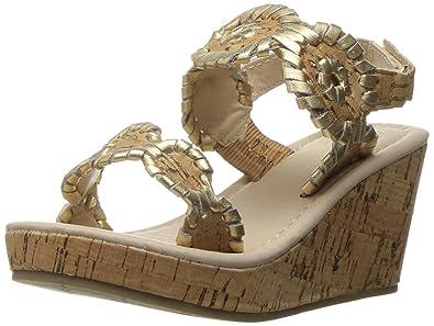 472ae126d1d43 Jack Rogers Girls  Little Miss Luccia Platform Sandal Cork Gold 5 M US  Toddler