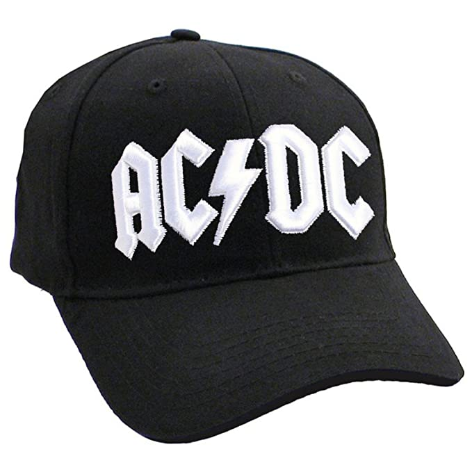c178422d3a4 Image Unavailable. Image not available for. Color  AC DC Baseball Cap  Classic White Band Logo ...