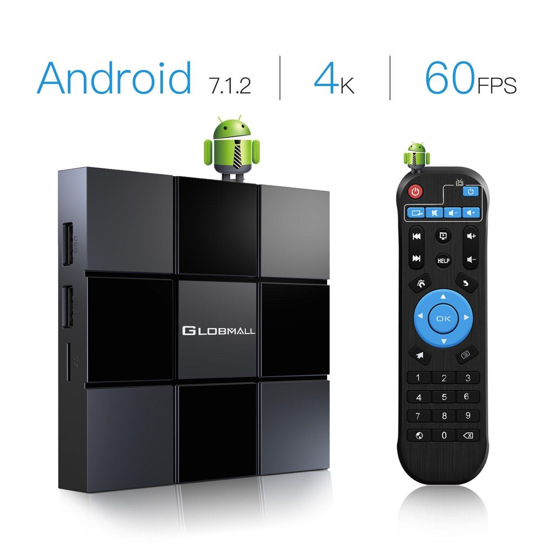 Globmall 2018 Neue TV-Box Android 7.1 X3 2 GB RAM 8 GB ROM Quad-Core-CPU Penta-Core GPU HDMI 2.0 4K H.265 Wifi Box Smart TV