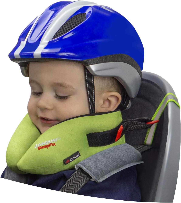 Cuscino con compensazione della temperatura Accessori per biciclette e rimorchi per biciclette Impedisce linclinazione della testa durante il sonno SANDINI SleepFix/® Kids BIKE