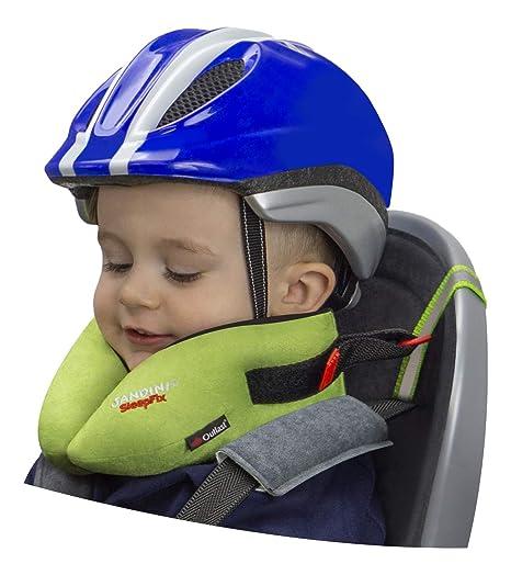 SANDINI SleepFix® Kids BIKE – Kinder Schlafkissen/Nackenkissen mit Stützfunktion, Temperaturausgleich – Kindersitz-Zubehör fü