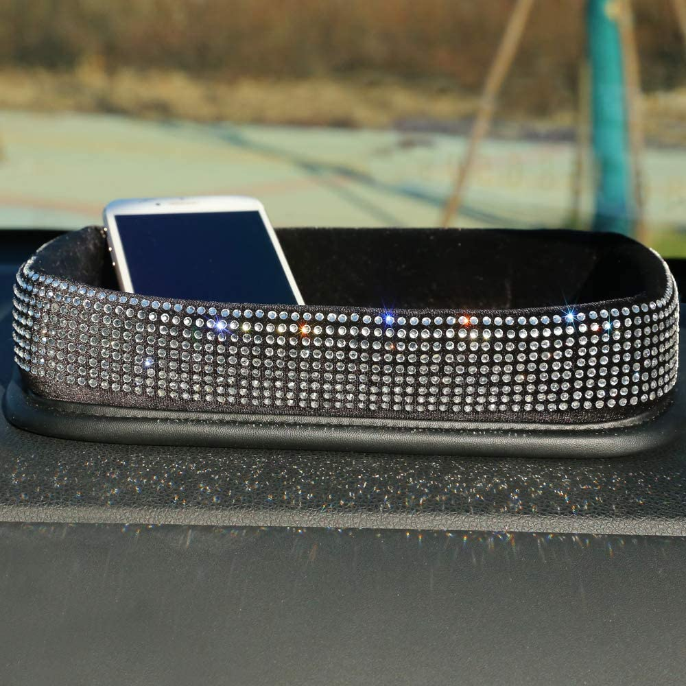 Car Armrest Cover BlingBling Charming Attractive Colorful Rhinestone Crystal Center Console Cushion Pad Muticolor