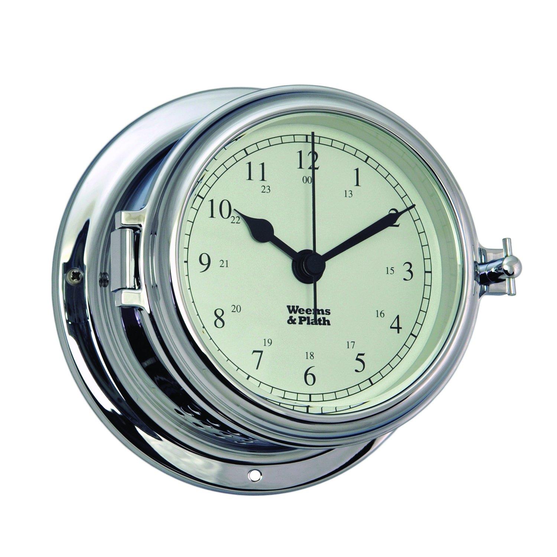 Weems and Plath Endurance II 115 Quartz Clock, Chrome