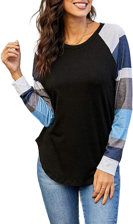 iChunhua T-shirt /à manches longues pour femme avec motif raglan