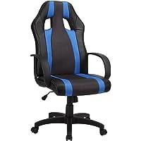1home réglable pivotant inclinable PU Haute Dos Chaise de Bureau Ergonomique Chaise de Bureau