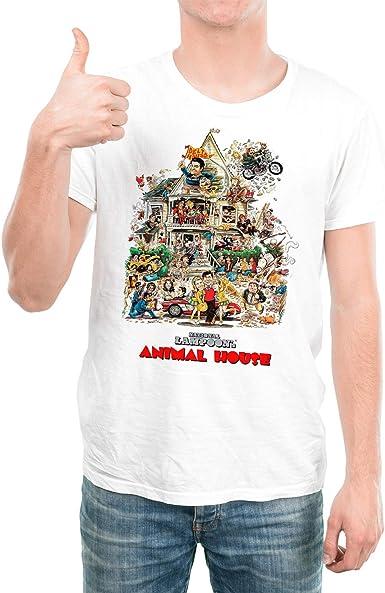 DibuNaif Camiseta Hombre - Unisex Cine Desmadre a la Americana: Amazon.es: Ropa y accesorios