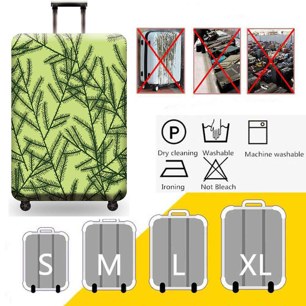 HBWZ Travel Luggage Cover Spandex Suitcase Protective Suitable for 18-32in Suitcase Thickened Dust Jacket,D,S